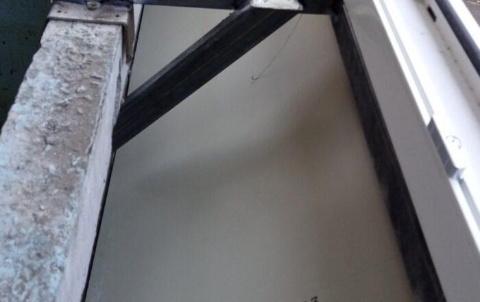 Балкон под ключ с выносом по подоконнику/ул. Ирпенская 63/5 Киев