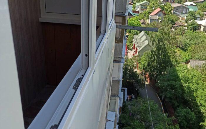 Установка балкона с внутренней обшивкой/ул. Шевченко 4 Ирпень Киевская обл.