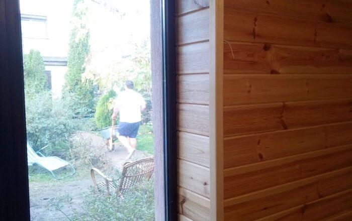 Остекление частного дома ламинированными окнами,установка подоконника/61-я Садовая ул., 84 Киев