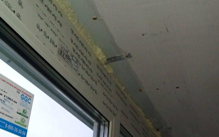 Установка металлопластикового балкона профиль Rehau /ул. Кубанской Украины 30 Киев