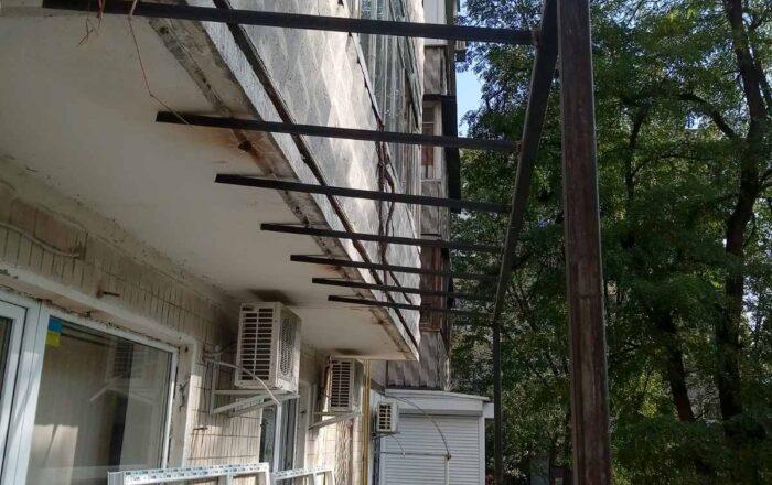 Установка балкона профиль WDS/ул. Ломоносова Киев