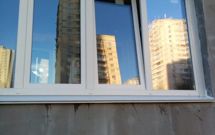 Установка металлопластиковой лоджии/Вишняковская 5-Б Киев